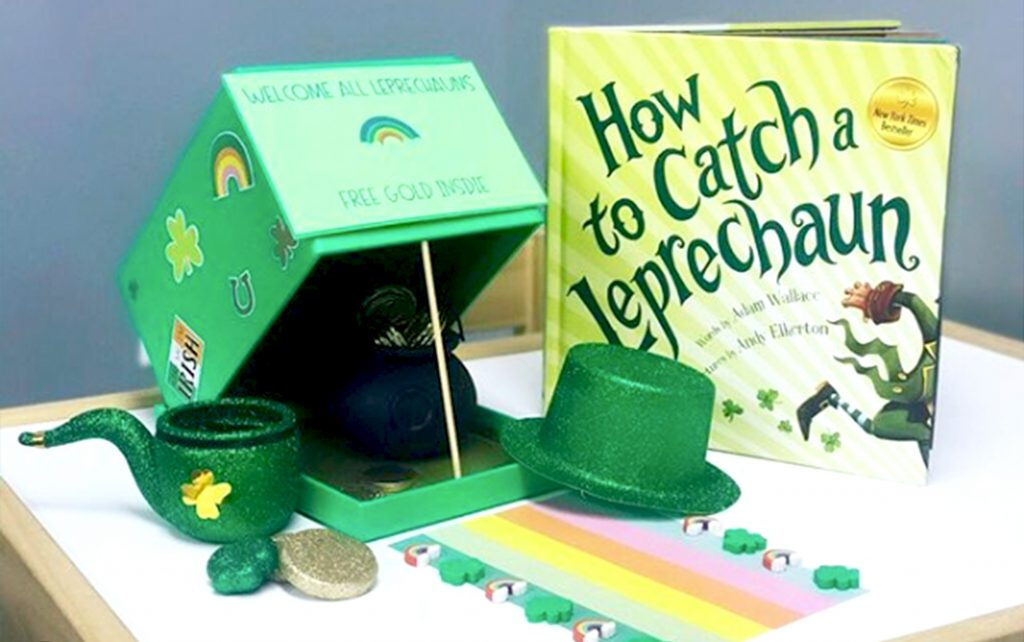 Picture of a leprechaun trap.
