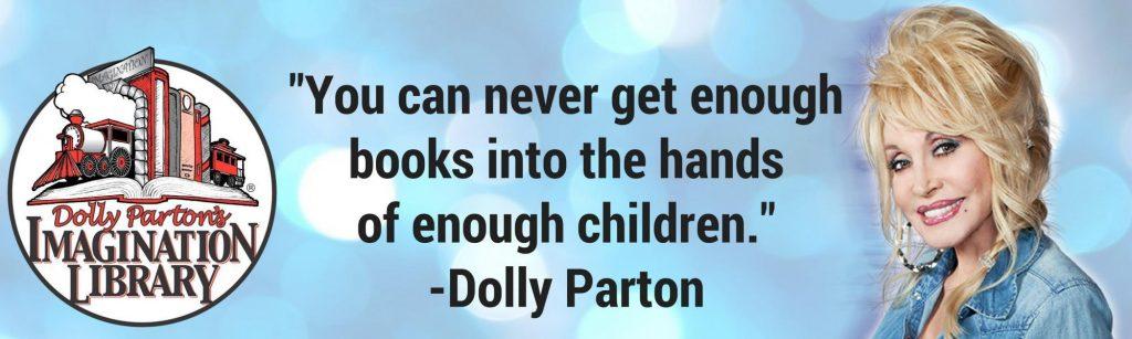 Dolly Parton Imagination Library photo.