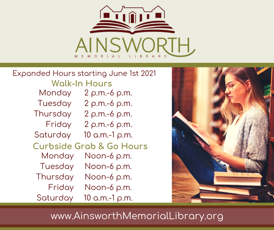 New library hours picture.