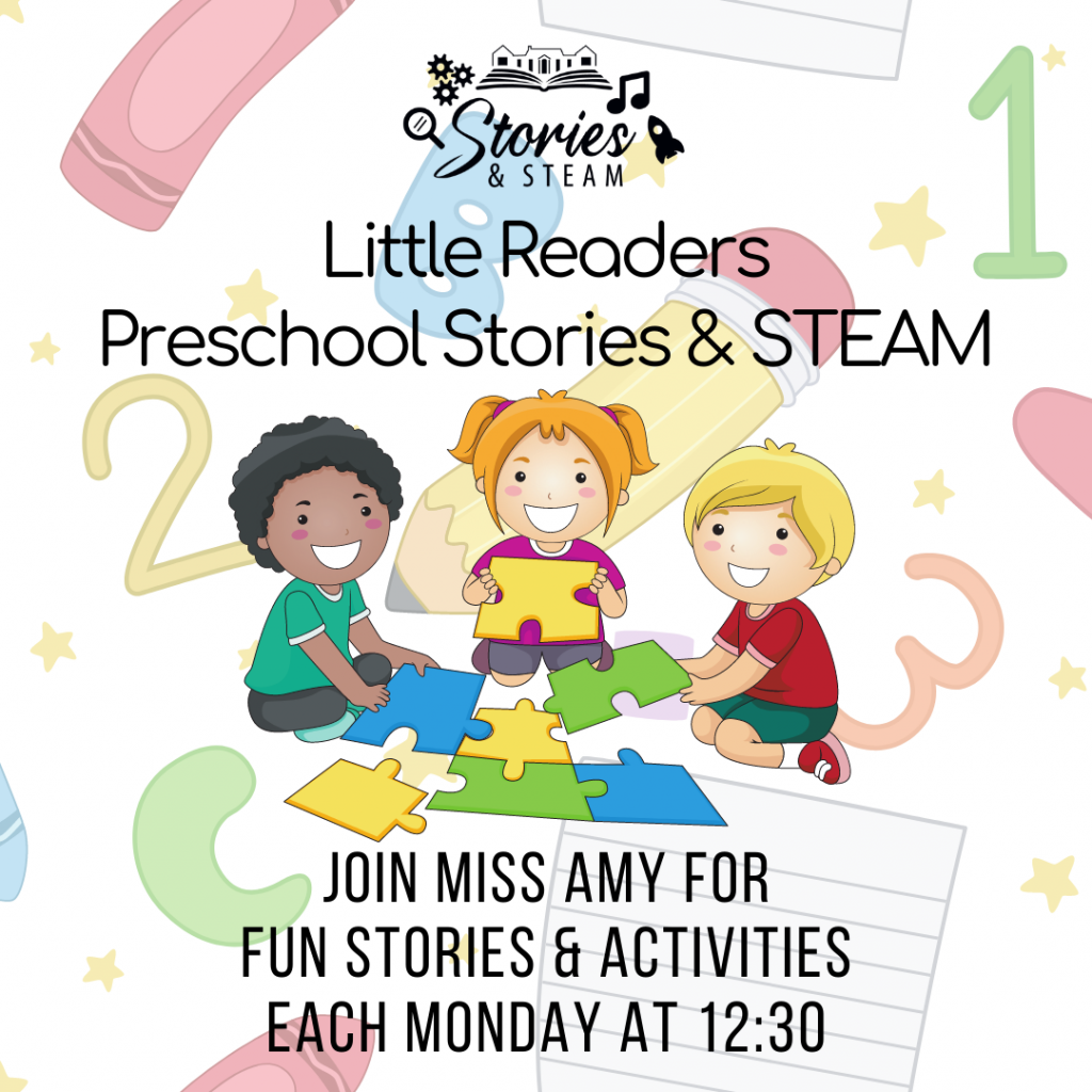 Little Readers Story Hour poster.